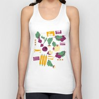 vegetables Tank Tops featuring Root Vegetables by Lucilight