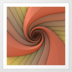 Spiral in Earth Tones Art Print