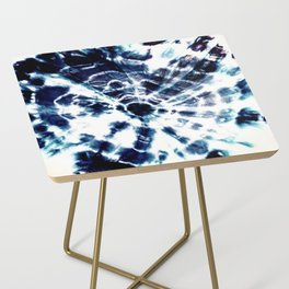 Tie Dye Sunburst Blue Side Table
