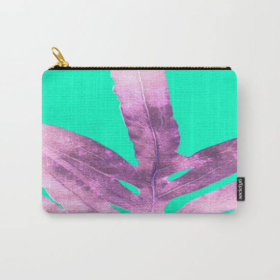 Lavender Fern on Mint Green Winter Wonderland Carry-All Pouch