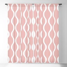 Classic Retro Ogee Pattern 841 Dusty Rose Blackout Curtain
