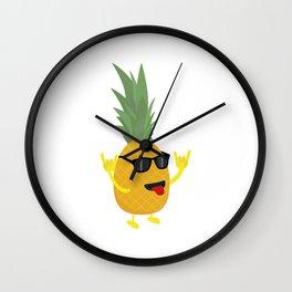 rock'n'roll pineapple Wall Clock