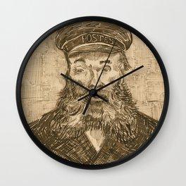 Portrait of the Postman Joseph Roulin by Van Gogh Wall Clock