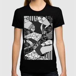 Chaotic Black And White T-shirt