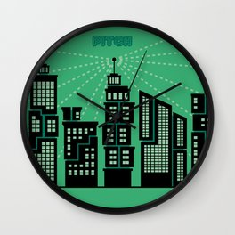 Pitch : Une vision digitale Wall Clock