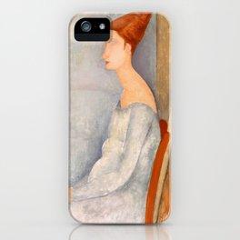 "Amedeo Modigliani ""Portrait of Jeanne Hébuterne"" iPhone Case"