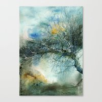 lake Canvas Prints featuring Lake by Iris V.