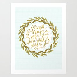ISAIAH TWENTY SIX VERSE THREE II. (26:3) JUBIL PRINTS Art Print