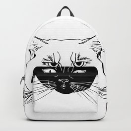 Dobby and Ivan Collegiate Cat Heads Backpack