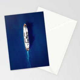 Classic Blue Waters | Aerial Print Stationery Cards
