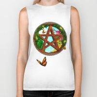 pagan Biker Tanks featuring Oasis Pagan Folk Art by BohemianBound