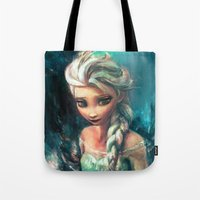 elsa Tote Bags featuring The Storm Inside by Alice X. Zhang