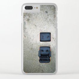 Comfy Office Chair on Concrete Clear iPhone Case