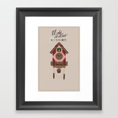 Cuckoo Clock Framed Art Print