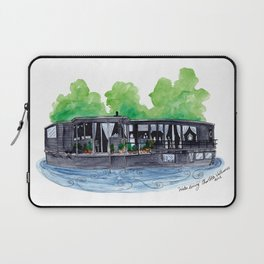 Water Living in Amsterdam by Charlotte Vallance Laptop Sleeve