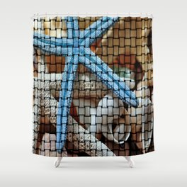 Sea Star  Shower Curtain