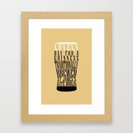 Typographical Guinness Framed Art Print