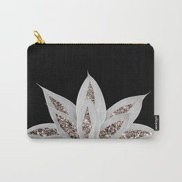 Gray Agave with Rose Gold Glitter #2 #shiny #tropical #decor #art #society6 Carry-All Pouch