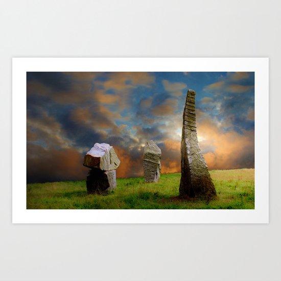 Sunset Stones Art Print