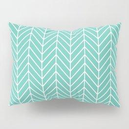 Turquoise Herringbone Pattern Pillow Sham