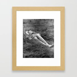 I Dreamt You Found Me in a Field Framed Art Print