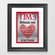 millennials seek love to last forever Framed Art Print