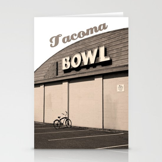Out bowling Stationery Cards
