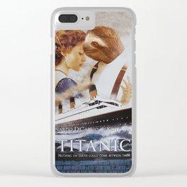 Sloth as Jack Dawson Clear iPhone Case