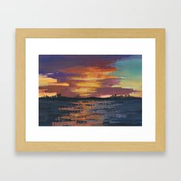 Taiba Lagoon Framed Art Print