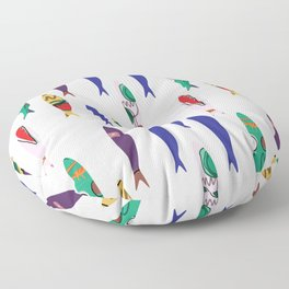 Summer Cookout Sardines #Homedecor Floor Pillow