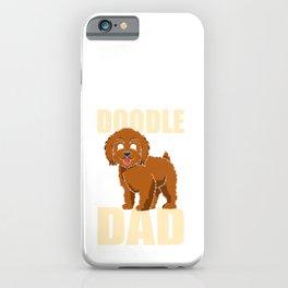 Doodle Dad Cute Golden Doodle Lovers iPhone Case