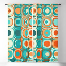 Orange and Turquoise Dots Blackout Curtain