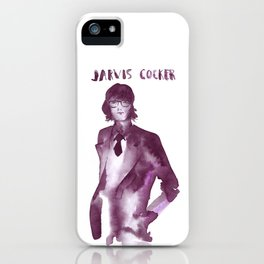 Ink painted musician Jarvis Cocker iPhone Case