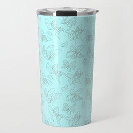 Blue Butterfly Wing Medley Travel Mug