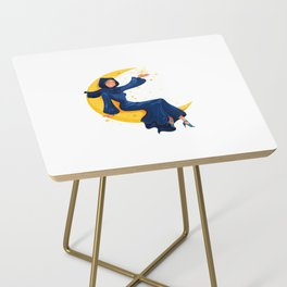 Lady on the Moon Side Table