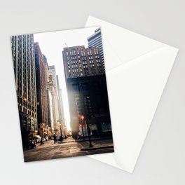 Chicago Street Commuter Stationery Cards