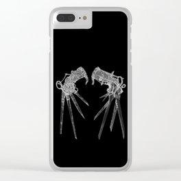 Scissorhandsc(Inverted) Clear iPhone Case