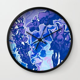 Lavender, Orchid, and Iris Wall Clock