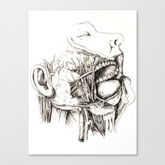 Anatomy: Study 1 Salivating Zombie Canvas Print