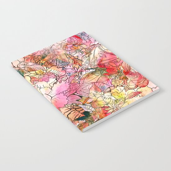 Summer Flowers | Colorful Watercolor Floral Pattern Abstract Sketch Notebook