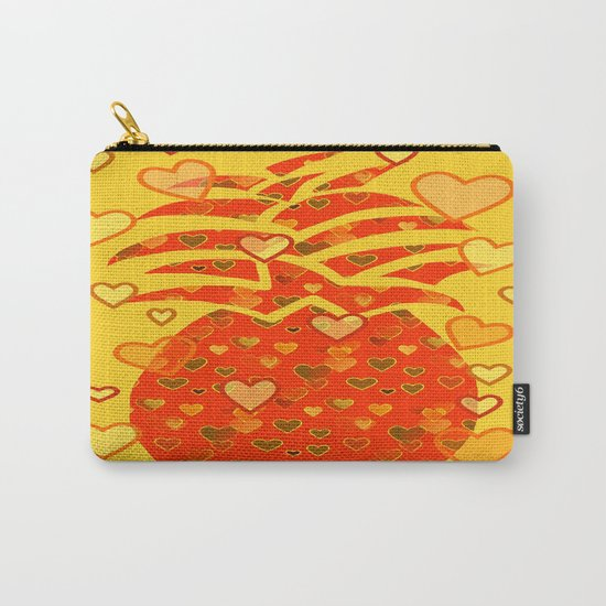 I Love Pineapple Carry-All Pouch