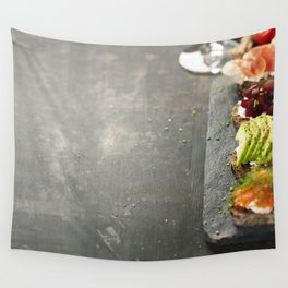 Tasty rye bread sandwiches Wall Tapestry