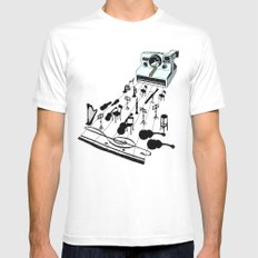 musical moment MEDIUM White Mens Fitted Tee
