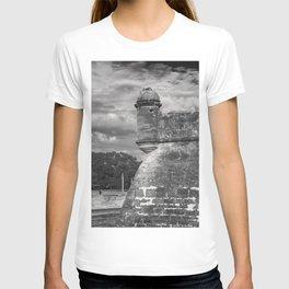 Castillo de San Marcos - black and white T-shirt