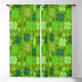 Saint Patrick's Day, Four Leaf Clovers - Green Blackout Curtain
