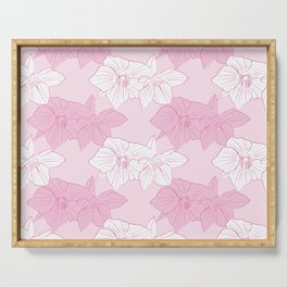 Pink Hellebores Serving Tray