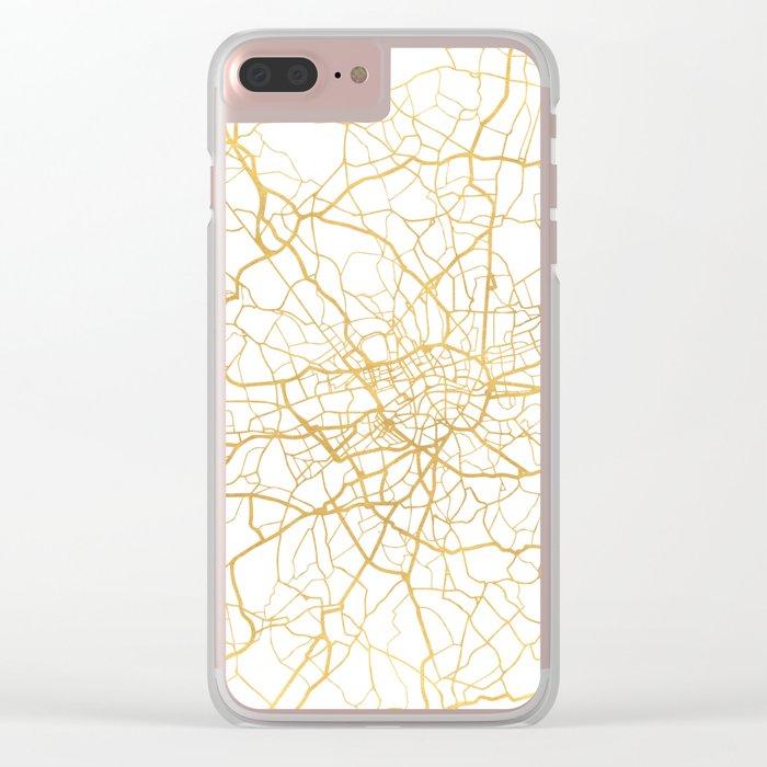 LONDON ENGLAND CITY STREET MAP ART Clear iPhone Case