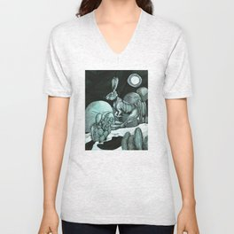 Jackrabbit Brings the News Unisex V-Neck