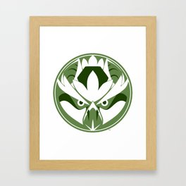 Tengu Circle Framed Art Print