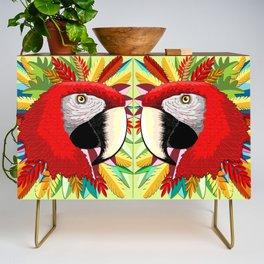 Macaw Parrot Paper Craft Digital Art Credenza